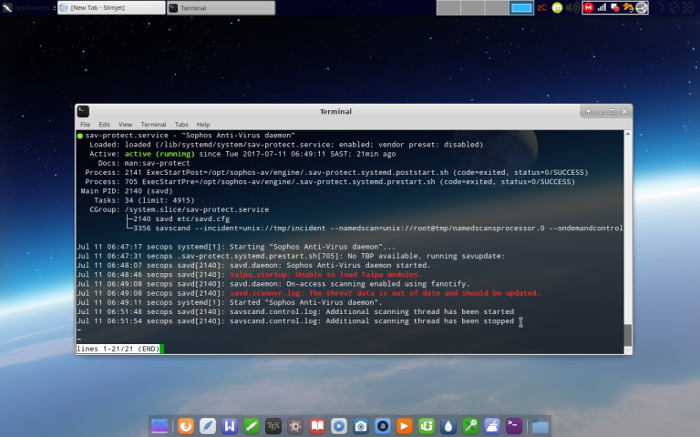 how to run sophos on linux